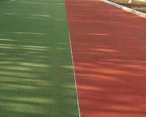 山東陶瓷顆粒彩色防滑路面